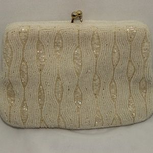 Ivory Beaded Coin Purse